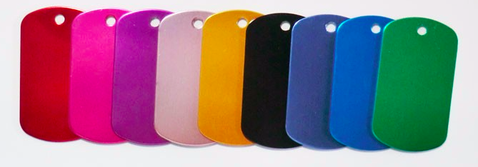 Schlüsselanhänger: farbig, rechteckig - 5cm x 2,9cm, 1mm