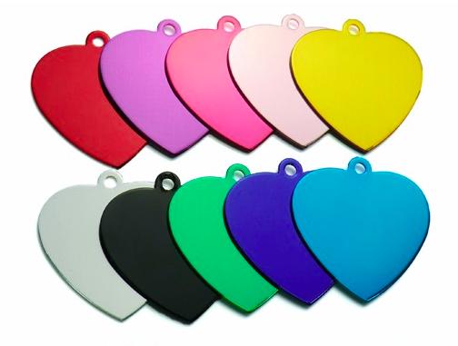 Schlüsselanhänger: farbig, Herz - Ø 3,6cm, 1mm