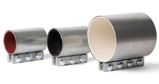 Rohrkupplung edelstahl/stahl verzinkt für Druckförderung, Rohrverbinder, Rohrspanner