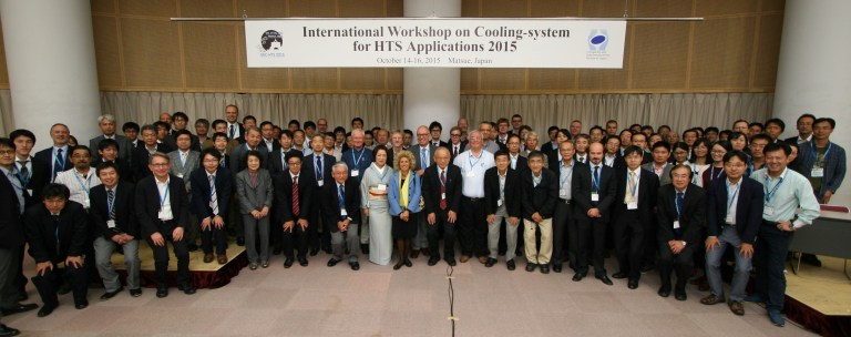 The participants of International Workshop on Cooling-system for HTS Applications 2015