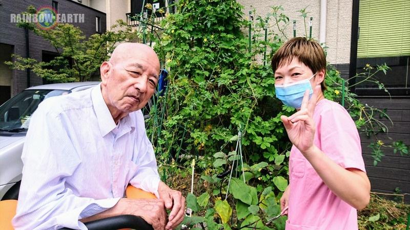 お庭の手入れ(さくらんぼ,訪問看護・福岡/レインボーアース)