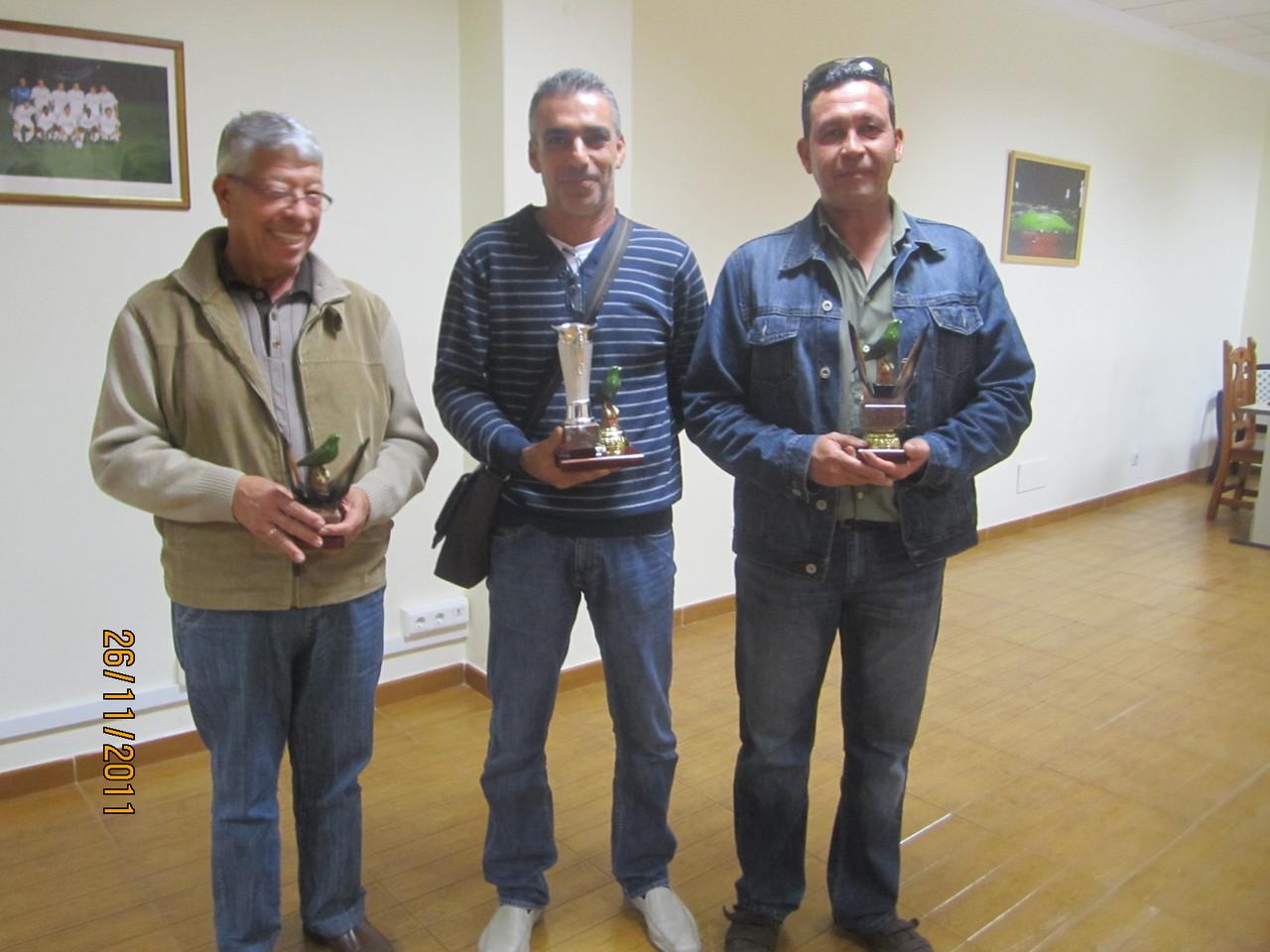 José Luis Rodríguez Pulido, Carlos León Reyes y Juan Carlos Reyes Pérez
