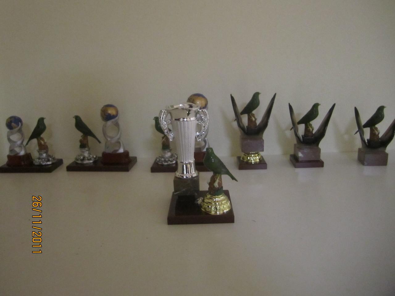 Los trofeos de los premiados