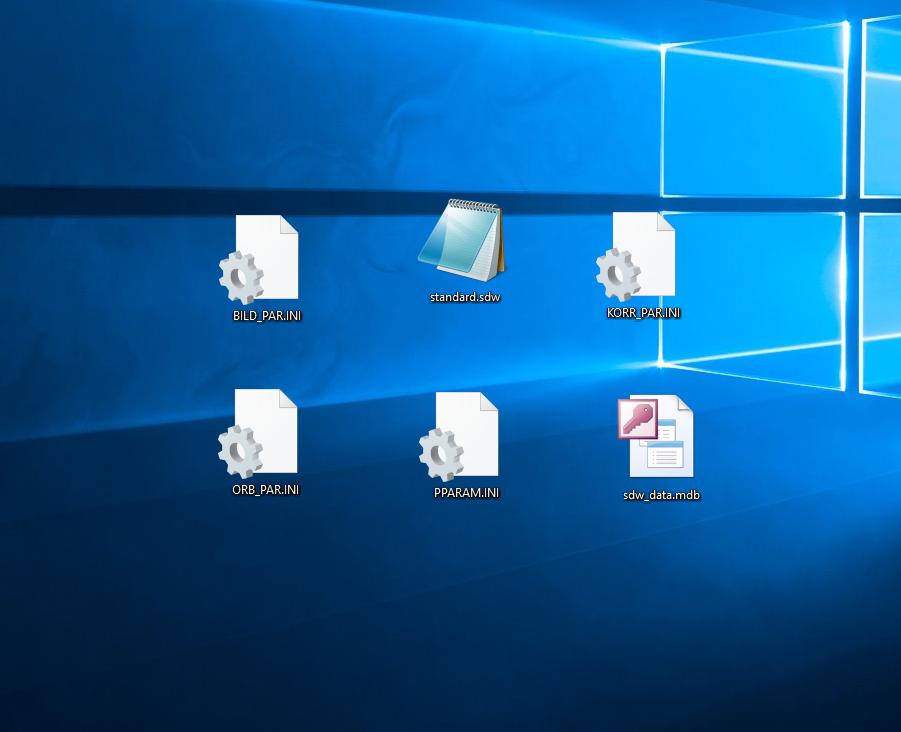 Gesicherte Dateien im gewählten Ordner
