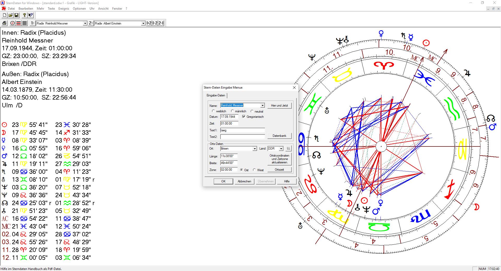 Ändern Horoskop 1