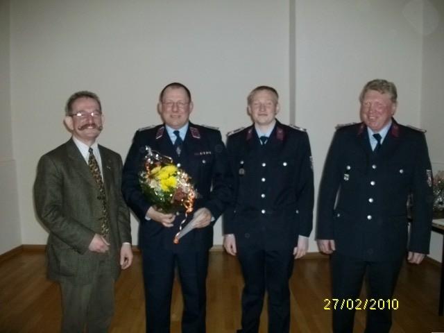 Kam. Joachim Lange, erhielt die Anstecknadel der Stufe 4 für 40 Jahre Mitgliedschaft