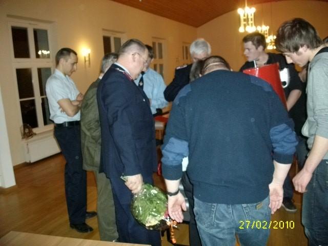 auch die anderen Kameraden und Gäste waren sichtlich überrascht
