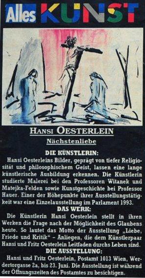 Hansi Oesterlein Ausstellung Nächstenliebe
