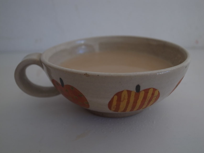 The tea cup that use for morning tea for three year