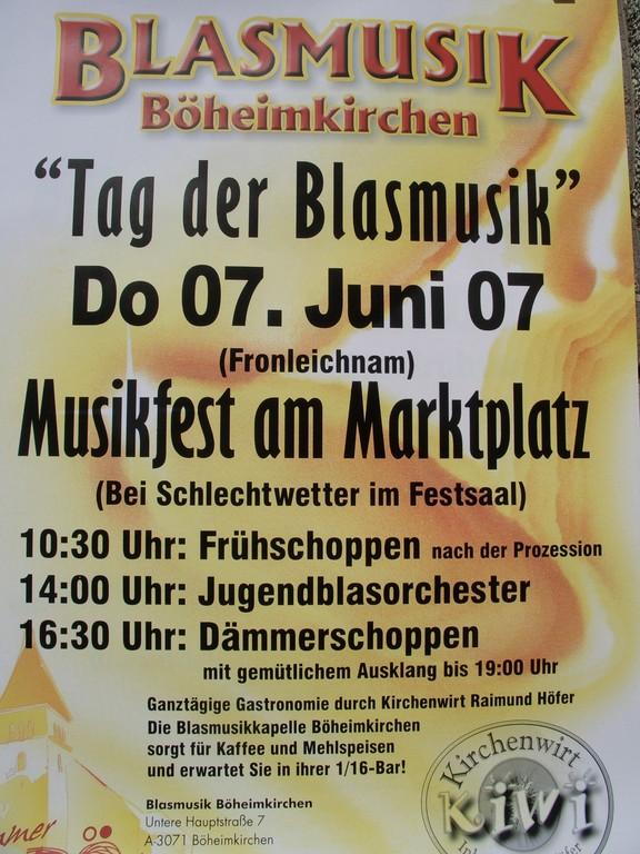 Tag der Blasmusik am 7. Juni 2007