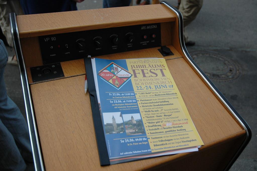 20 Jahre Partnerschaft Böhmenkirch - Böheimkirchen 22-24 Juni 2007