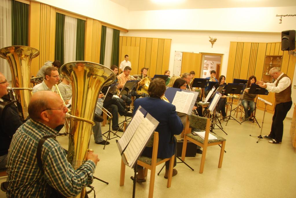 Probenarbeit im Musikerheim Jänner 2012