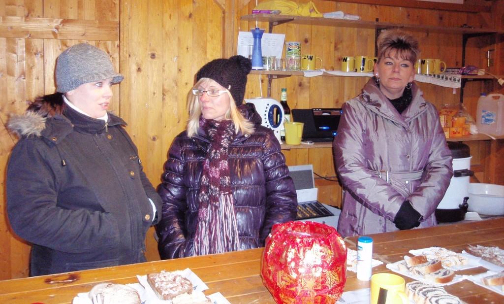 Punschstand am Marktplatz am 18. Dezember 2010