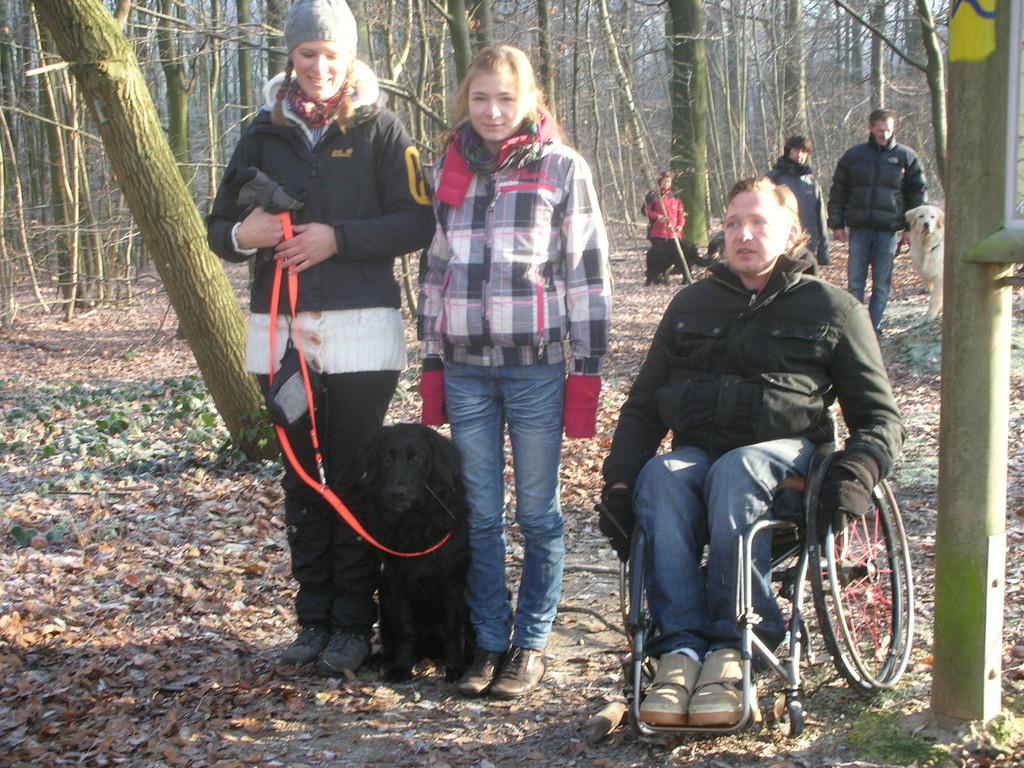 Brianna mit Tanja, Danile und Michelle