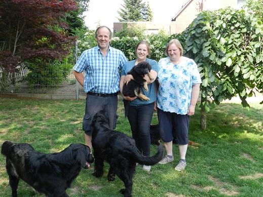 Felice mit Uwe, Christina und Angelika aus Vlotho