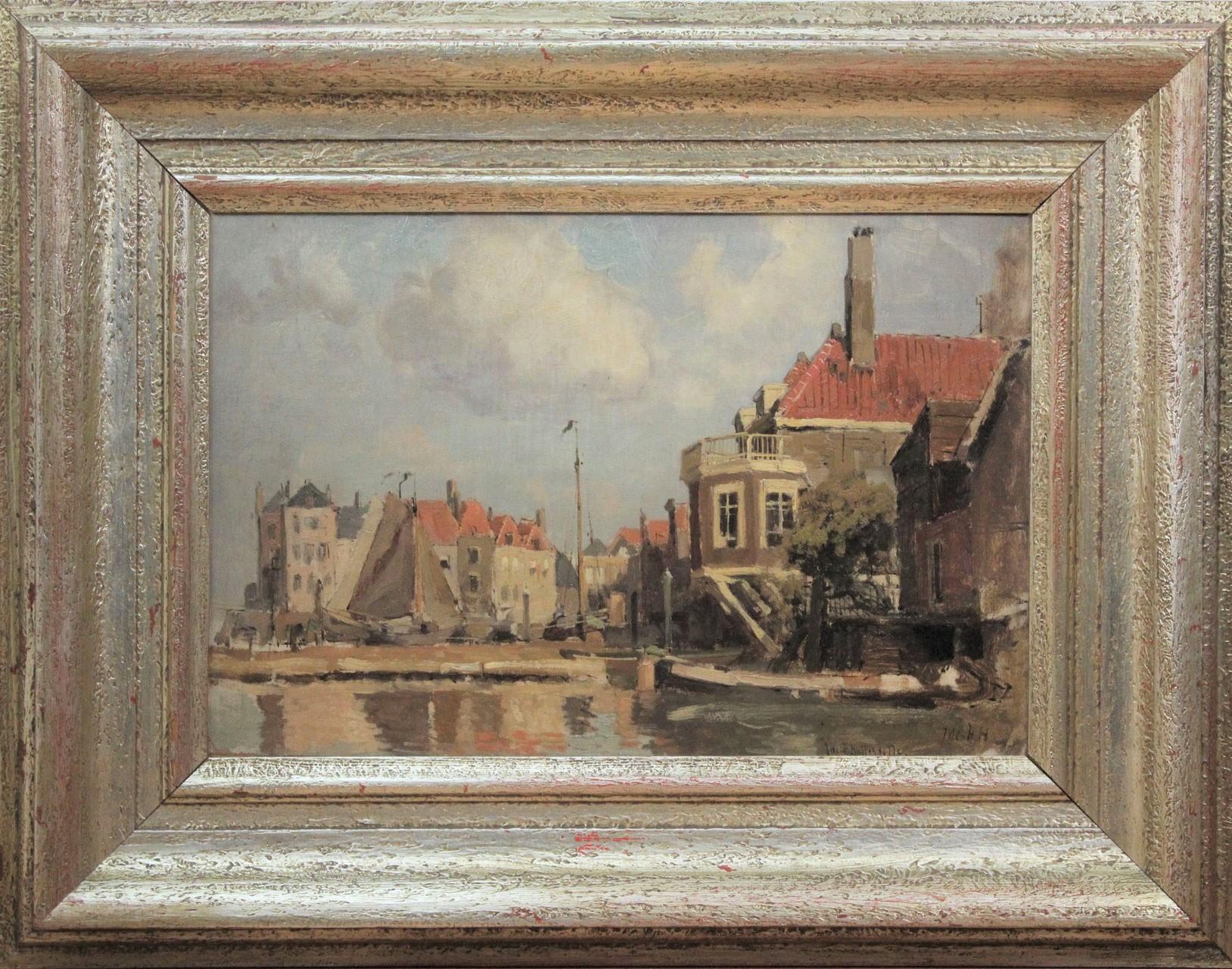 te_koop_aangeboden_een_schilderij_van_de_nederlandse_kunstschilder_jacob_huybrecht_hollestelle_1858-1920