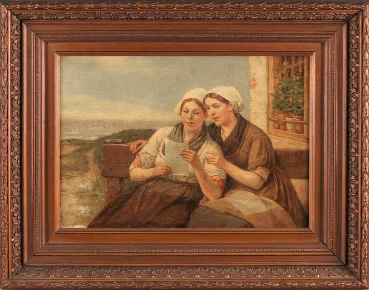 te_koop_aangeboden_een_genre_schilderij_van_de_belgische_kunstschilder_henri_jacques_bource_1826-1899