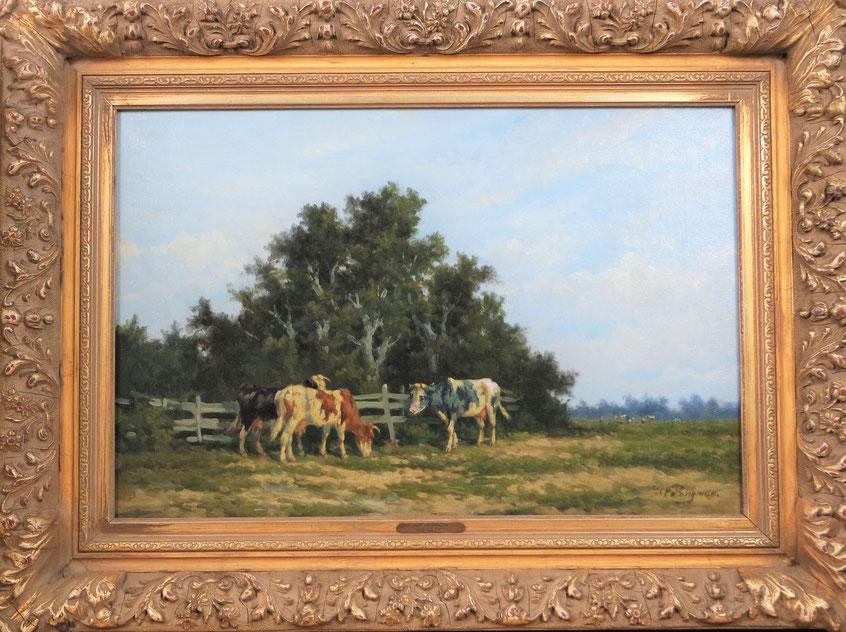 te_koop_aangeboden_een_vee_schilderij_van_de_haagse_school_schilder_hermanus_charles_ch_bogman_1861-1921