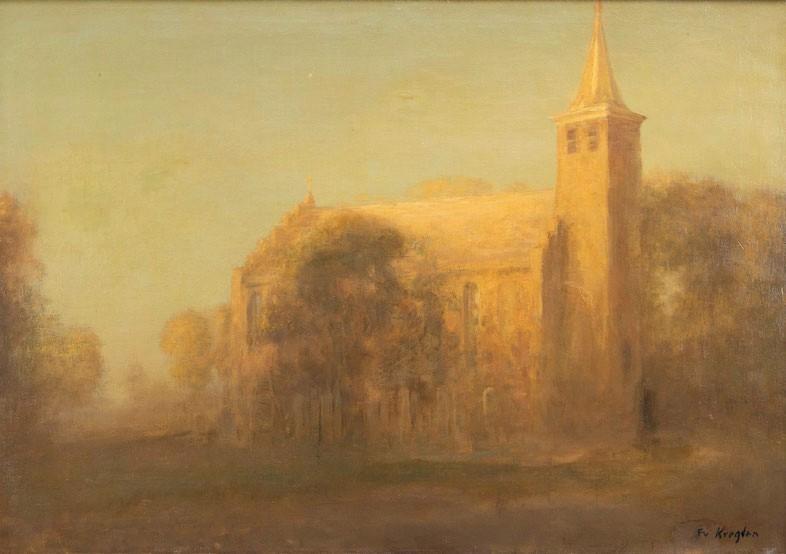 te_koop_aangeboden_een_schilderij_van_de_nederlandse_kunstschilder_fedor_van_kregten_1871-1937_2e_generatie_haagse_school