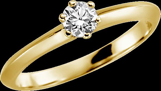 Ring Gelbgold mit Stein