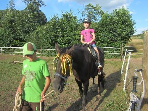 Geritten wurde diesmal auf Heidi. Heidi war sooooo brav, ein tolles Pferd....
