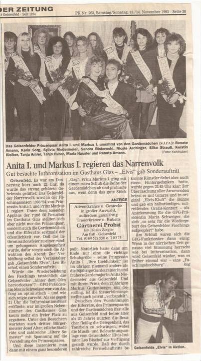 (Quelle: GZ 13./14. November 1993)