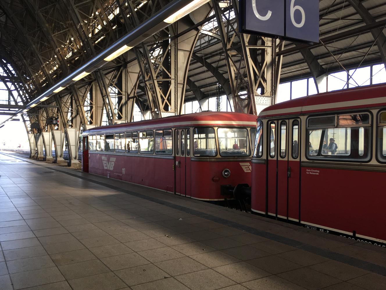 2019 Heftiger Gegenwind+Regen...3 Teilstrecken mit dem Zug...