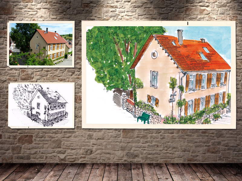 Skizze | Kunde: Ferienwohnung Alte Schule, Günter Kreft