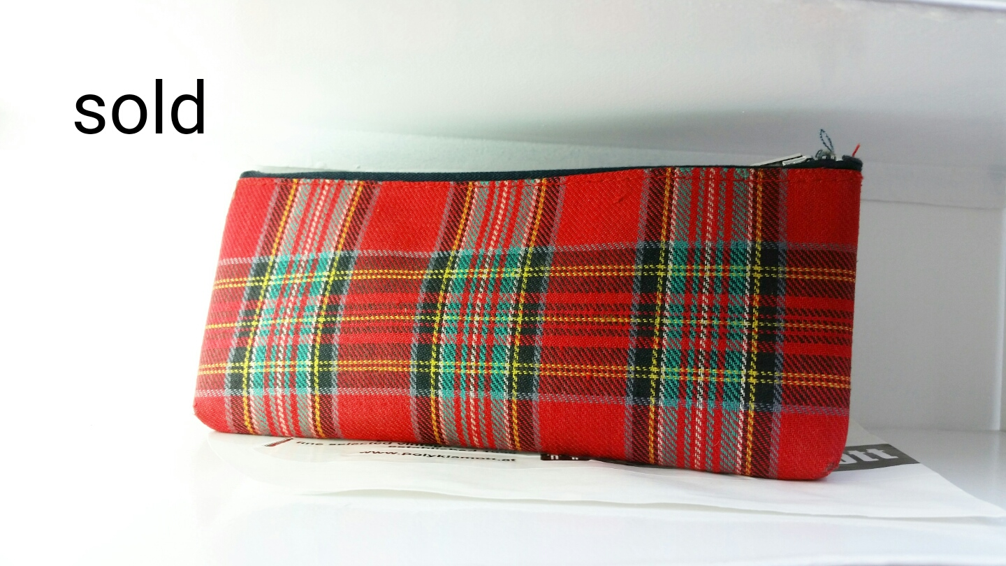 1960s plaid pencil case @polyklamott Vending Shop