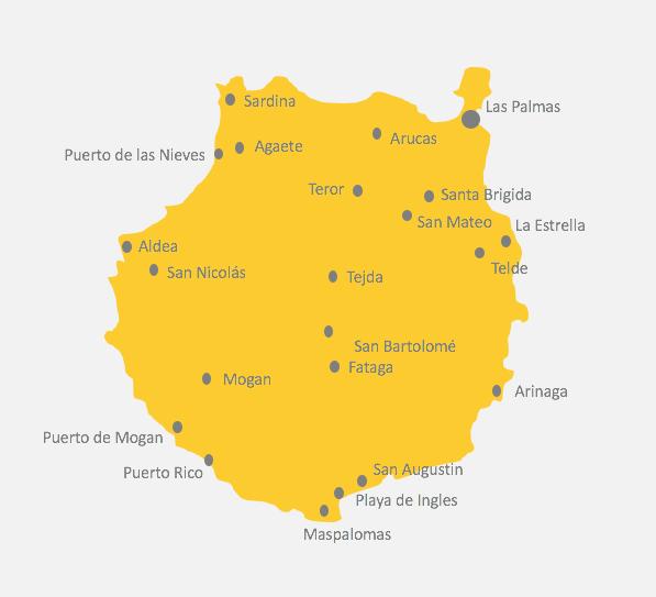 Karte von Gran Canaria
