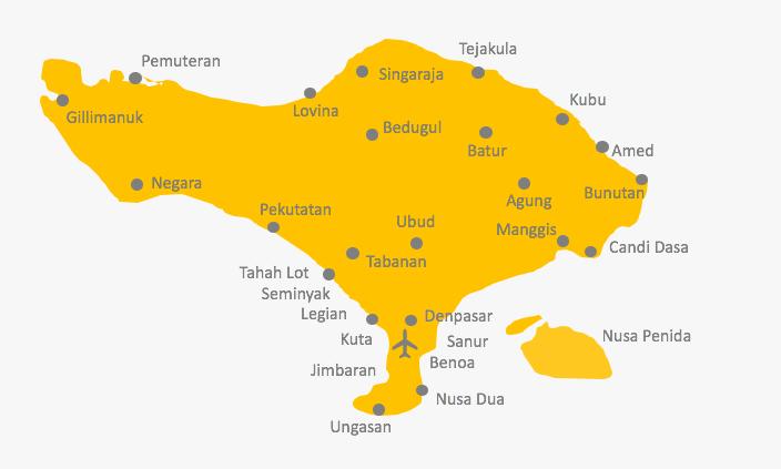 Karte von Bali