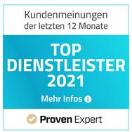 TOP Dienstleister 2019, 2020 & 2021