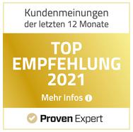 TOP Empfehlung 2019, 2020 & 2021