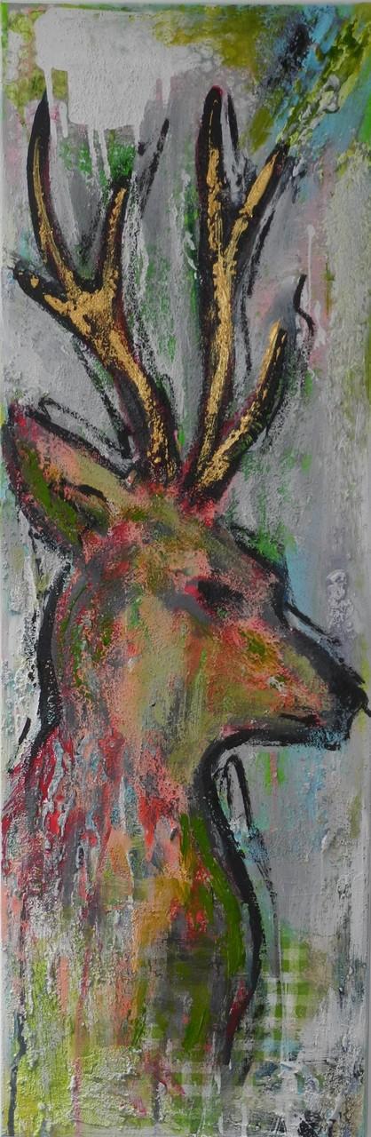 Rehbock, 2013 30 x 90 cm (verkauft)