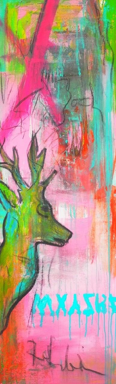 Rehlein, 2014 150 x 50 cm (verkauft)