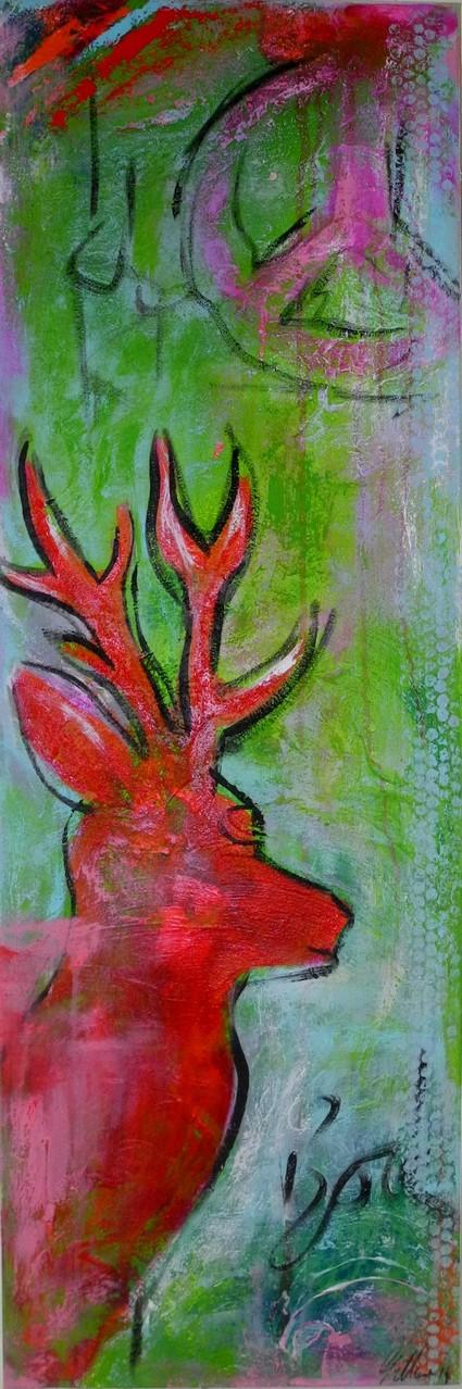 Bock, 2014 150 x 50 cm (verkauft)