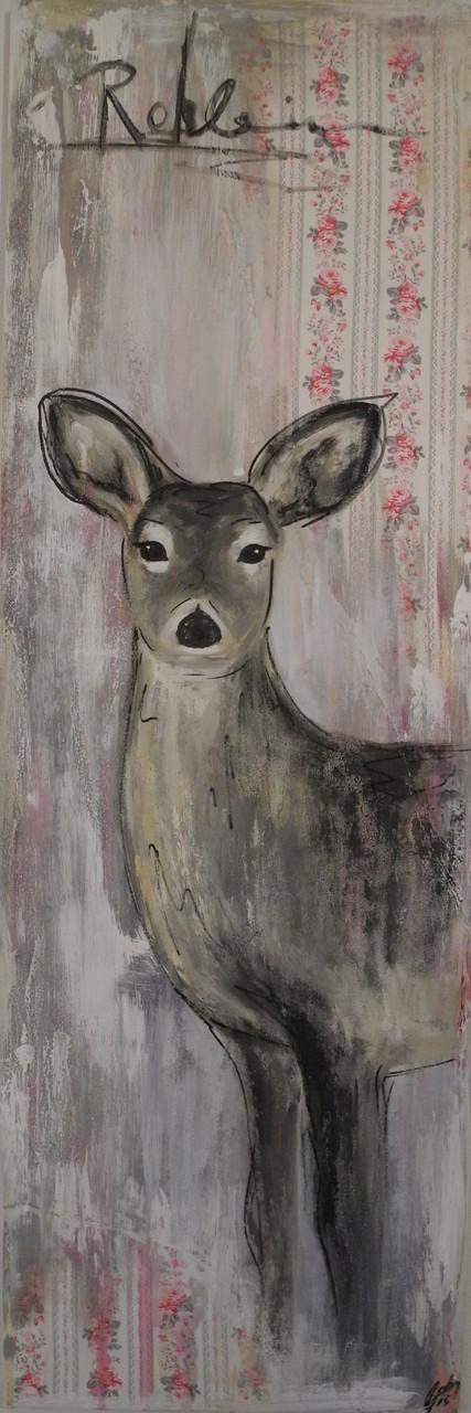 Rehlein II, 2015 150 x 50 cm (verkauft)