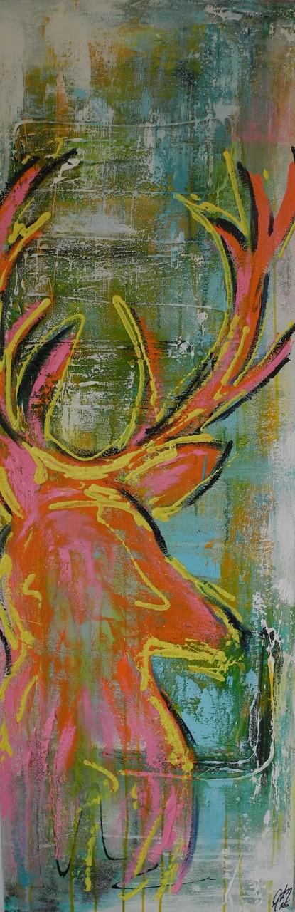 Wilder Walter, 2014 150 x 50 cm (verkauft)