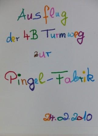 Schule Turmweg Klasse 4 b 2010