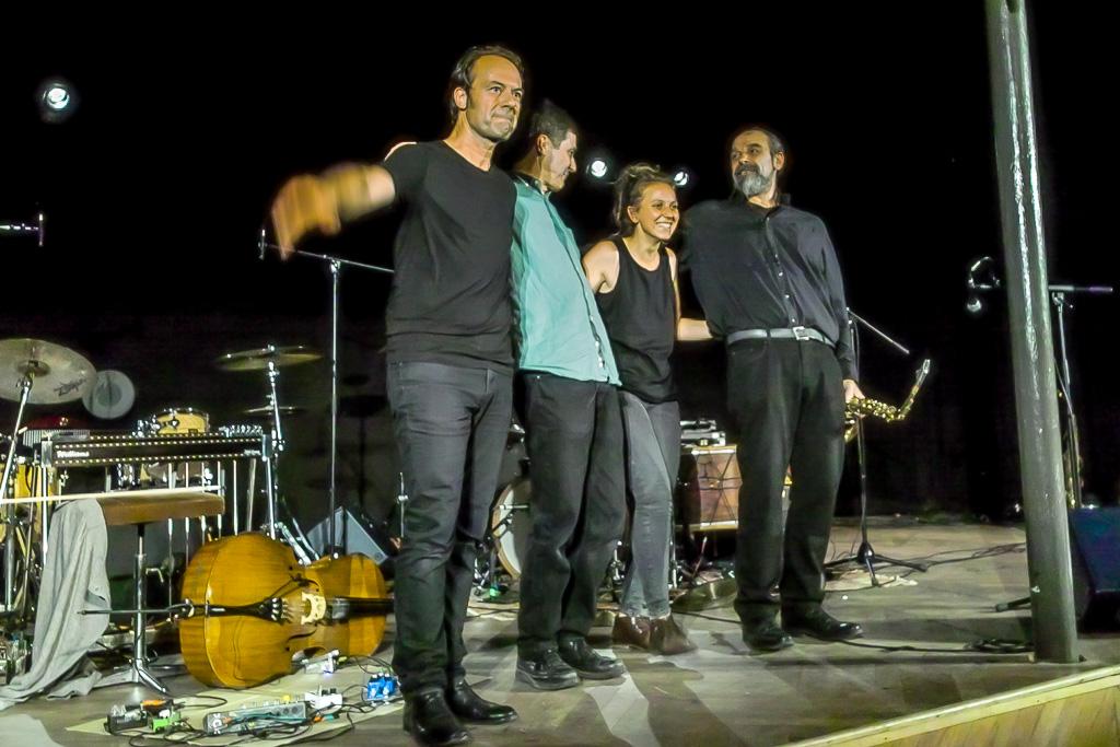 BRÖtz 80!Festival 29.08.21  M.Pliakas, F. Lonber-Holm, C.Emaille, H.P.Hiby  ©Gerard Rouy