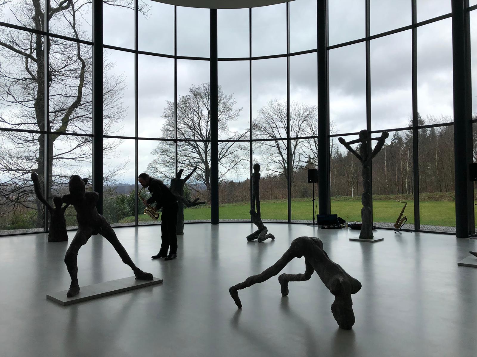Hiby Solo Ausstellungseröffnung Martin Disler - Häutung und Tanz  Skulpturenpark Waldfrieden  Wuppertal 2019