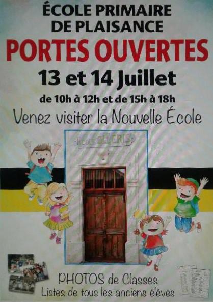 Portes ouvertes école Olléris Plaisance du Gers