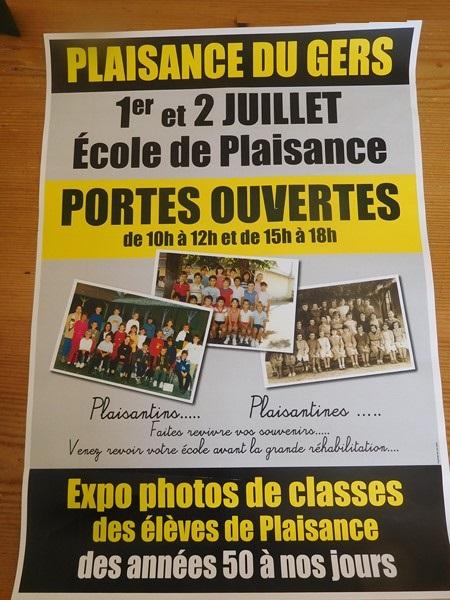 Portes ouvertes école Olléris Plaisance du Gers Plaisance Patrimoine Historique