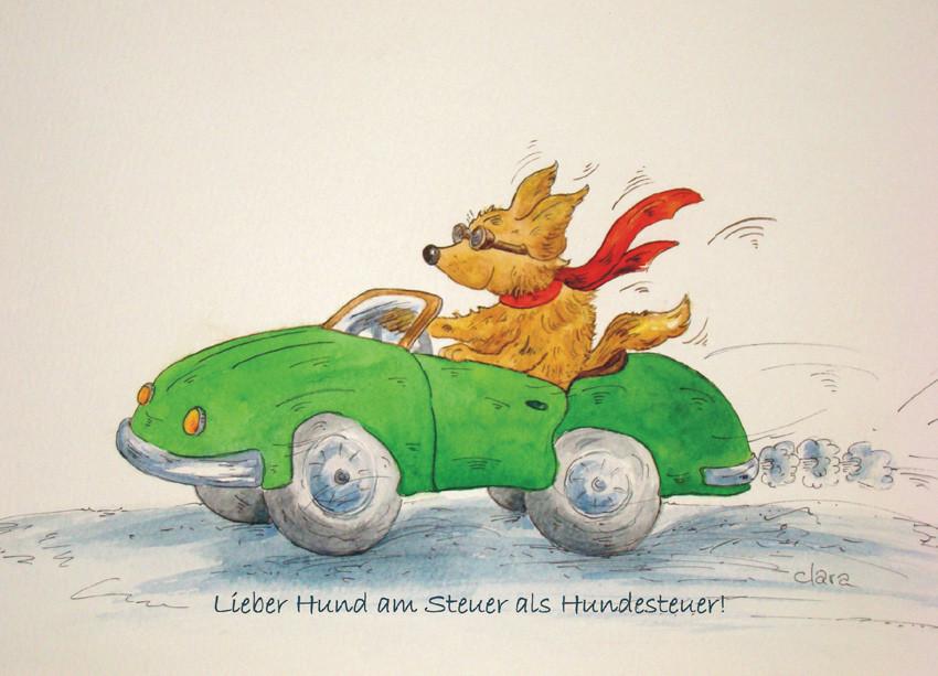 Cabrio mit Hund