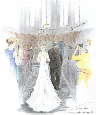 dessin de mariage by Kiara