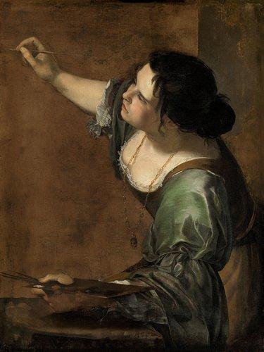 Artemisia Gentileschi, Selbstbildnis als Allegorie der Malerei