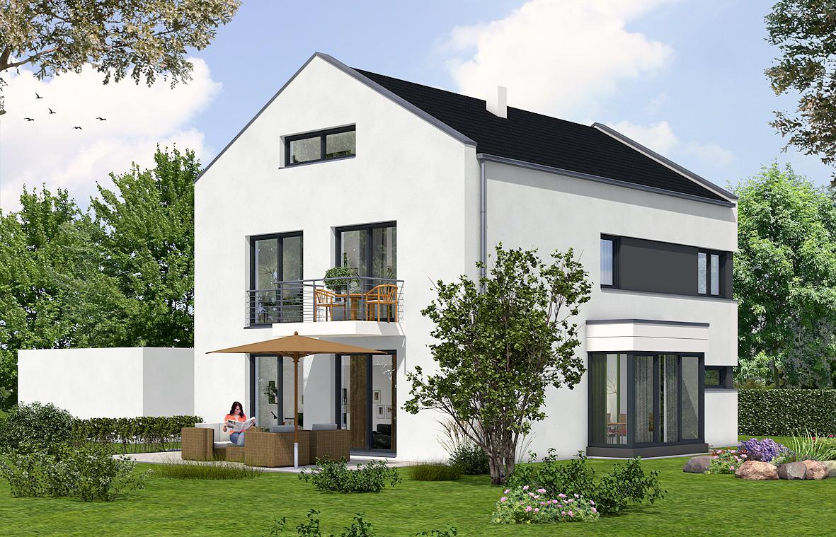 Fabelhaft Moderne Einfamilienhäuser Galerie Von Der Süd-west Garten Mit Gestaltungspotenzial, Wie Außenpool,