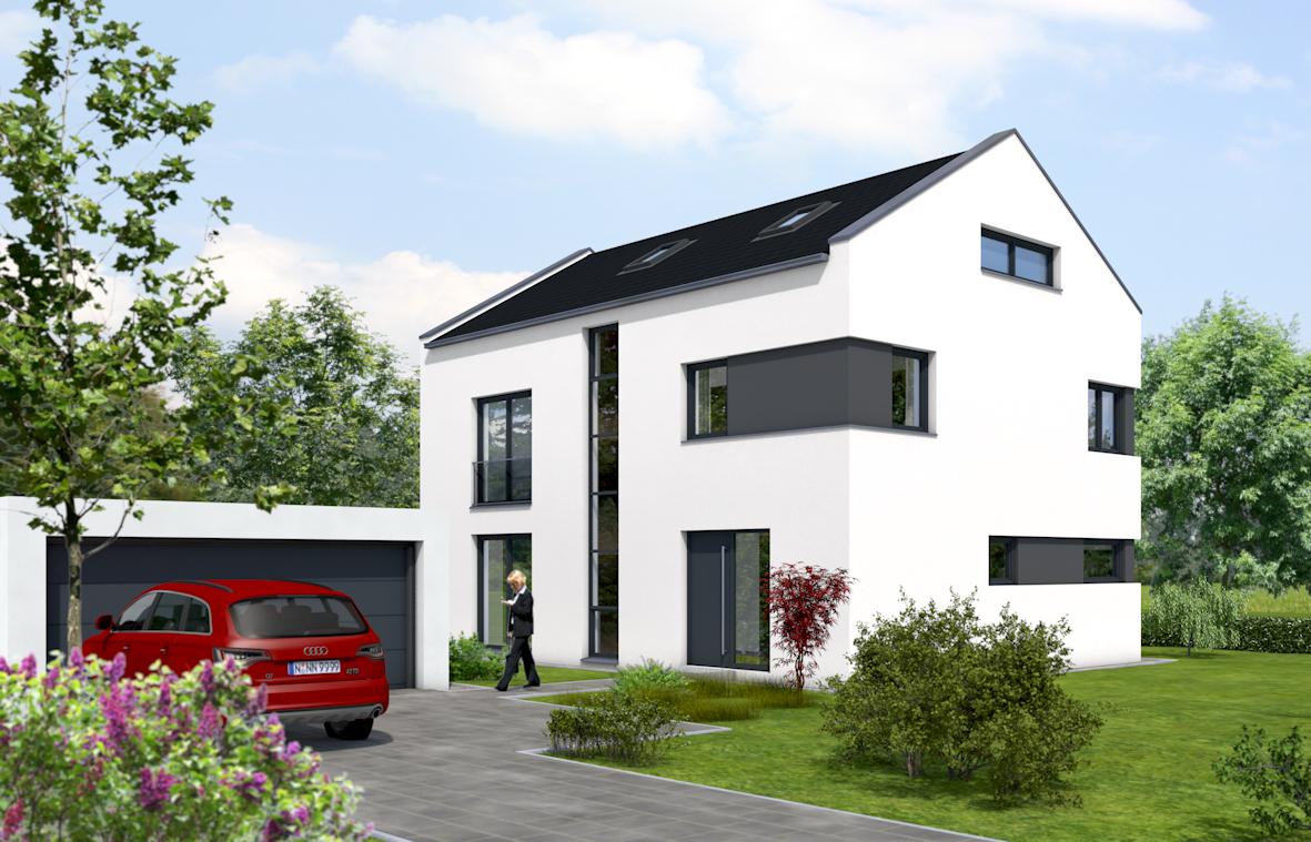 Blickfang Moderne Einfamilienhäuser Referenz Von Der Süd-west Garten Mit Gestaltungspotenzial, Wie Außenpool,