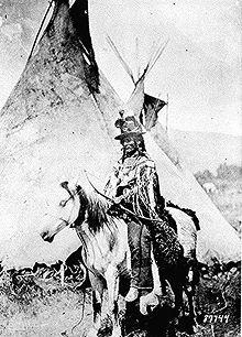 Nez Perce Chief Looking Glass, 1877 - Chief Looking Glass war einer von 5 Clan-Anführern, die im Krieg 1877 zusammen mit Husis Kute, Joseph, Tulhuulhulsuit and White Bird kämpften.