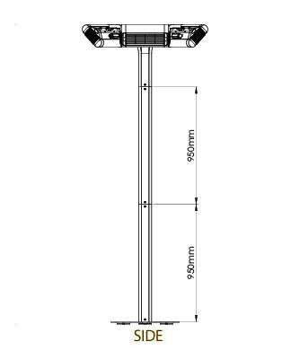 Technische Zeichnung TANSUN Heizungen